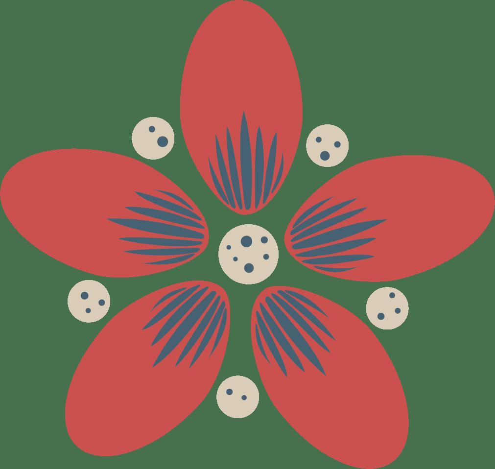 Flower redweb